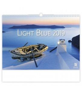 Wall calendar Light Blue 2019
