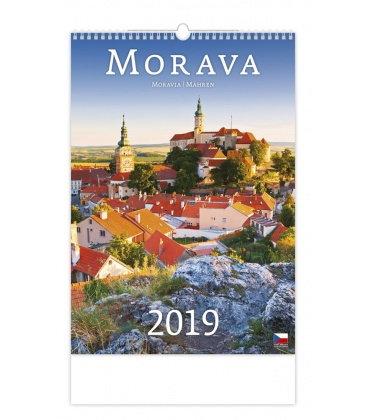 Nástěnný kalendář Morava/Moravia/Mähren 2019