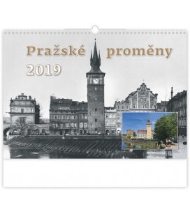 Wandkalender Pražské proměny 2019