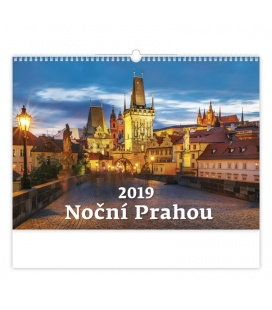 Nástěnný kalendář Noční Prahou 2019