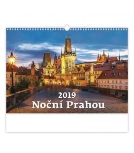 Wandkalender Noční Prahou 2019