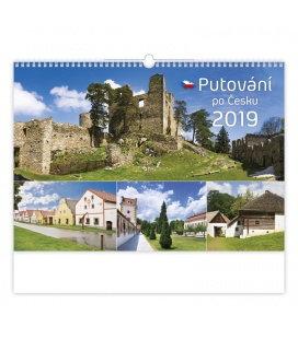 Nástěnný kalendář Putování po Česku 2019