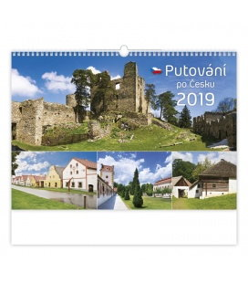 Wall calendar Putování po Česku 2019