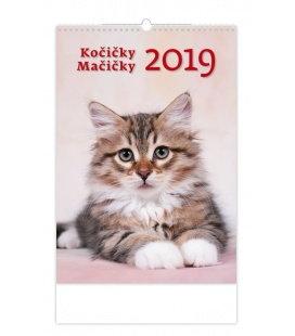 Wandkalender Kočičky/Mačičky 2019