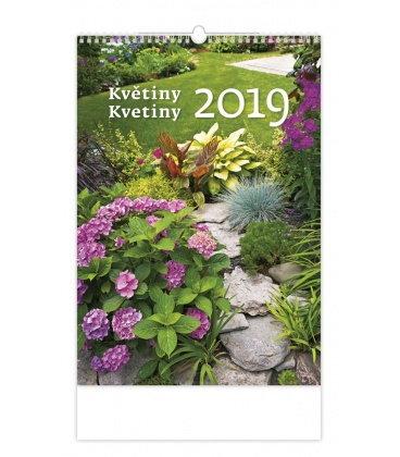 Wall calendar Květiny/Kvetiny 2019