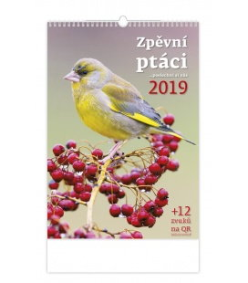 Wall calendar Zpěvní ptáci 2019