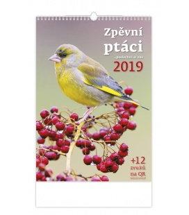 Wandkalender Zpěvní ptáci 2019