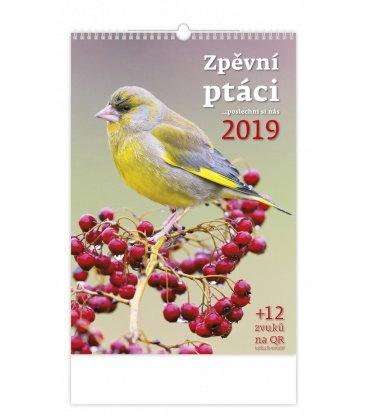 Nástěnný kalendář Zpěvní ptáci 2019