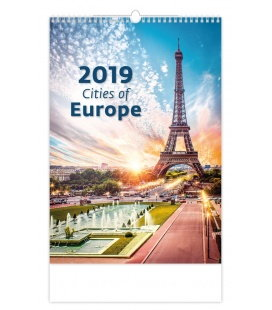 Wall calendar Cities of Europe 2019