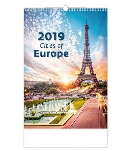 Wandkalender Cities of Europe 2019