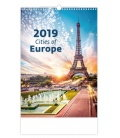 Nástěnný kalendář Cities of Europe 2019