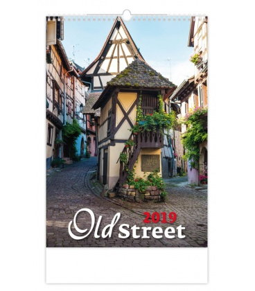 Nástěnný kalendář Old Street 2019