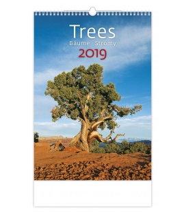 Wandkalender Trees/Bäume/Stromy 2019