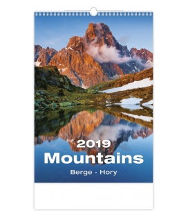 Wall calendar Mountains/Berge/Hory 2019
