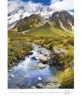 Nástěnný kalendář Mountains/Berge/Hory 2019