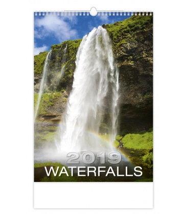 Nástěnný kalendář Waterfalls 2019