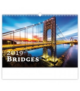 Wall calendar Bridges 2019