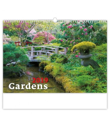 Nástěnný kalendář Gardens 2019