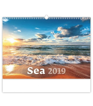 Wall calendar Sea 2019