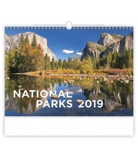 Wandkalender National Parks 2019