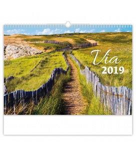 Nástěnný kalendář Via 2019