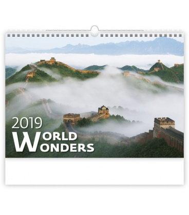 Wall calendar World Wonders 2019