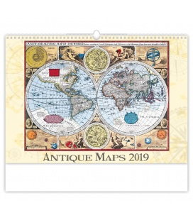 Wandkalender Antique Maps 2019