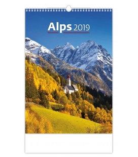 Wandkalender Alps 2019