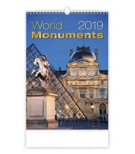 Nástěnný kalendář World Monuments 2019