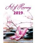 Nástěnný kalendář Art of Harmony 2019