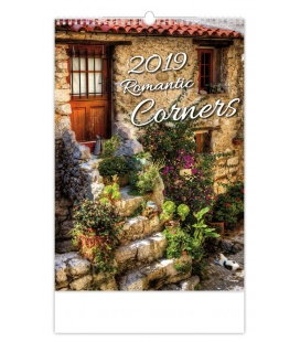 Wall calendar Romantic Corners 2019