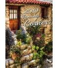 Nástěnný kalendář Romantic Corners 2019