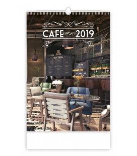 Nástěnný kalendář Cafe 2019