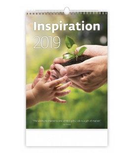 Nástěnný kalendář Inspiration 2019
