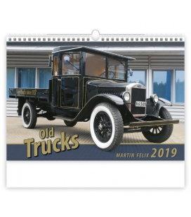 Nástěnný kalendář Old Trucks 2019