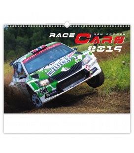 Nástěnný kalendář Race Cars 2019