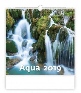Nástěnný kalendář Aqua 2019