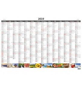 Nástěnný kalendář Plánovací roční mapa A1 obrázková 2019