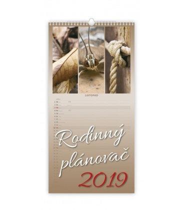 Nástěnný kalendář Rodinný plánovač 2019