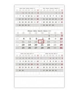 Nástěnný kalendář Pětiměsíční šedý 2019
