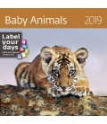 Wall calendar Baby Animals 2019