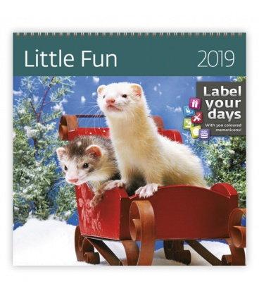 Nástěnný kalendář Little Fun 2019