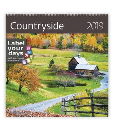 Nástěnný kalendář Countryside 2019
