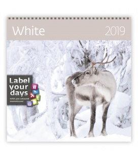 Nástěnný kalendář White 2019