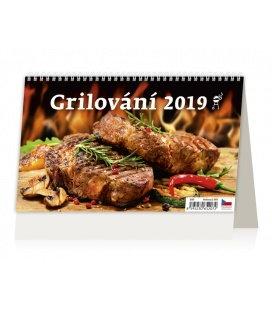 Stolní kalendář Grilování 2019