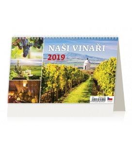 Tischkalender Naši vinaři 2019