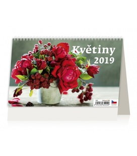 Stolní kalendář Květiny 2019