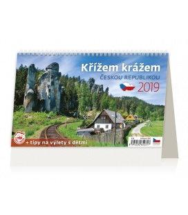 Table calendar Křížem krážem Českou republikou 2019