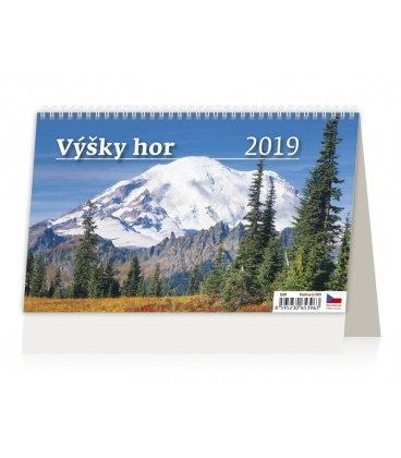 Table calendar Výšky hor 2019