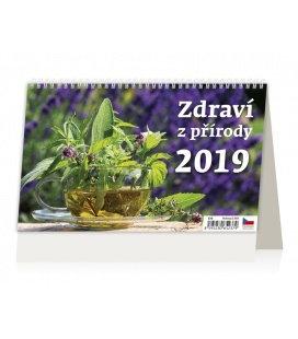 Tischkalender Zdraví z přírody 2019